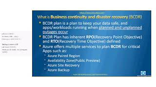 Azure Talk – BCDR with Azure Site Recovery(ASR) Session 1