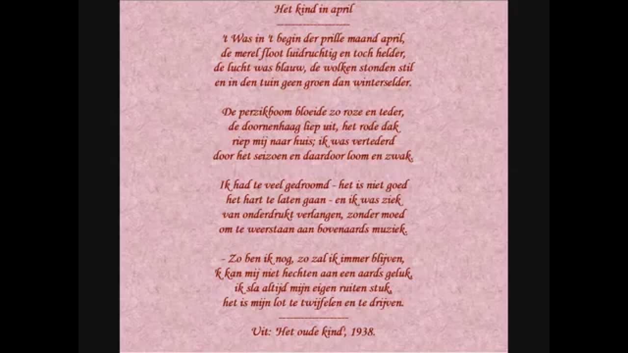 Jan Van Nijlen Gedicht Het Kind In April