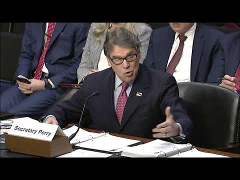 Sen. Cruz Questions Energy Secretary Perry at Senate Armed Services Committee - March 22, 2018
