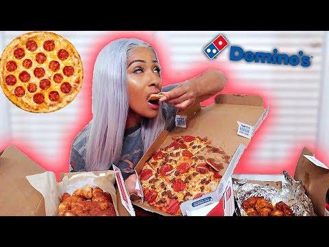 DOMINOS PIZZA MUKBANG!!! (EATING SHOW)
