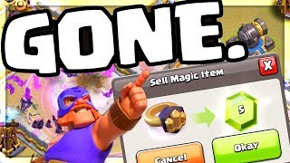 GONE. FOREVER. Clash of Clans - These are DELETED. Sold. GONE!