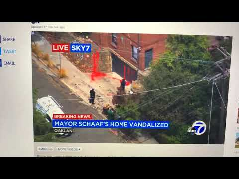 Oakland Mayor Libby Schaaf's Home Attacked By 30+ Vandals Who Shot Projectiles, Graffitied Her Home