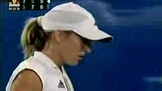 Justine Henin vs Anastasia Myskina Athens 2004 Semi 16/17