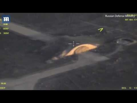 Drone footage reveals damage to Syria's Shayrat airfield   BTTV News
