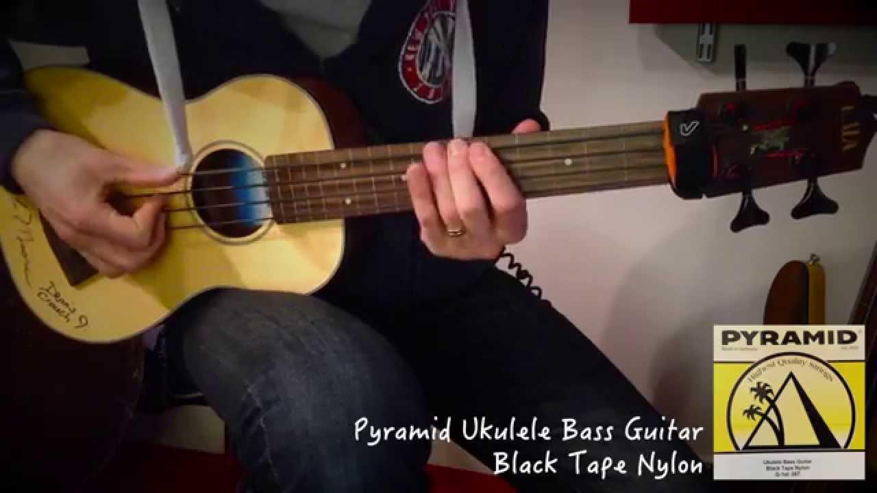 ihan kiva jaloilla kuvia paras myynti Jammin' with my Kala UBass | 42 String test: Pyramid Black Tape Nylon