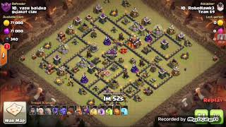 Atttack with golem,witch,bowler and siege machine    coc   