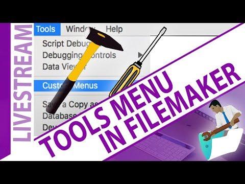 Tools Menu in FileMaker Pro