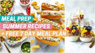 BEST SUMMER RECIPES  Meal prep recipes for the grill + no cook dinners