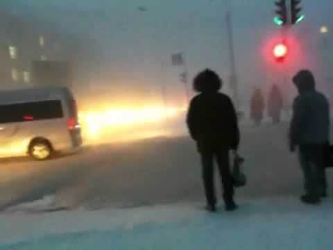 Feel the atmosphere of the world's coldest city. Winter weather in Yakutsk, Siberia/Russia