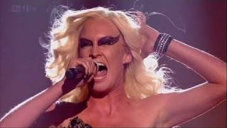 Kitty Brucknell is X Factor royalty!- The X Factor 2011 Live Show 1 - itv.com/xfactor