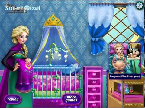 Disney frozen princess elsa baby nursery decor game youtube for Baby rooms decoration games