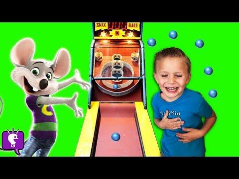 BIGFOOT at CHUCK E CHEESE?! Pick Toys w/ Tickets Part 2 Family Fun Arcade HobbyKidsTV