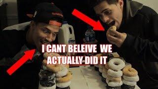 Doughnut Challenge w/Alex Hassan from dobre Epic Video Must Watch!!! FAIL!!!