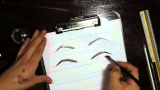 how to do eyebrow for face chart