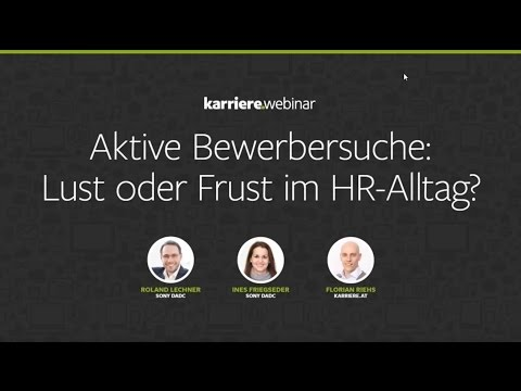 Aktive Bewerbersuche: Lust oder Frust im HR-Alltag? | Webinar mit Sony DADC