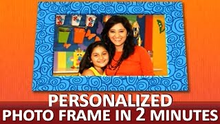 "How To Make A Creative Photo Frame - ""paper Art And Craft Ideas"""