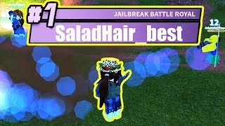 ULTIMATE DISGUISE SALAD HAIR Battle Royale Mode | Roblox Jailbreak Update