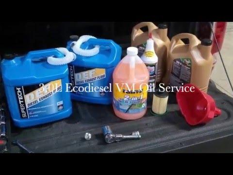 3.0l Ecodiesel oil change complete service