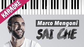 Marco Mengoni | Sai Che | Karaoke Piano con Testo