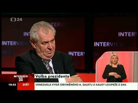 Interview ČT24 - volba prezidenta - Miloš Zeman