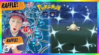 LIVE🔴 BEST SHINY MAGNEMITE NEST in Pokemon Go + 6 PACK POKEMON POWER BOX RAFFLE!