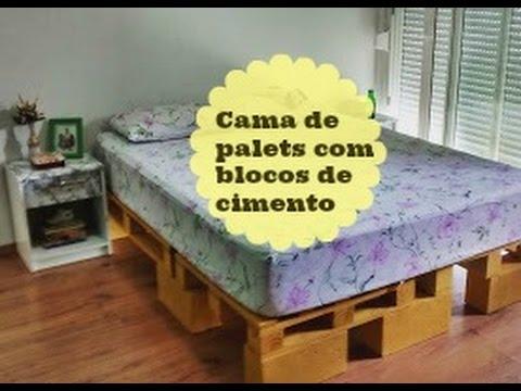 Cama de palets com blocos de cimento carla oliveira - Modelos de sofa cama ...