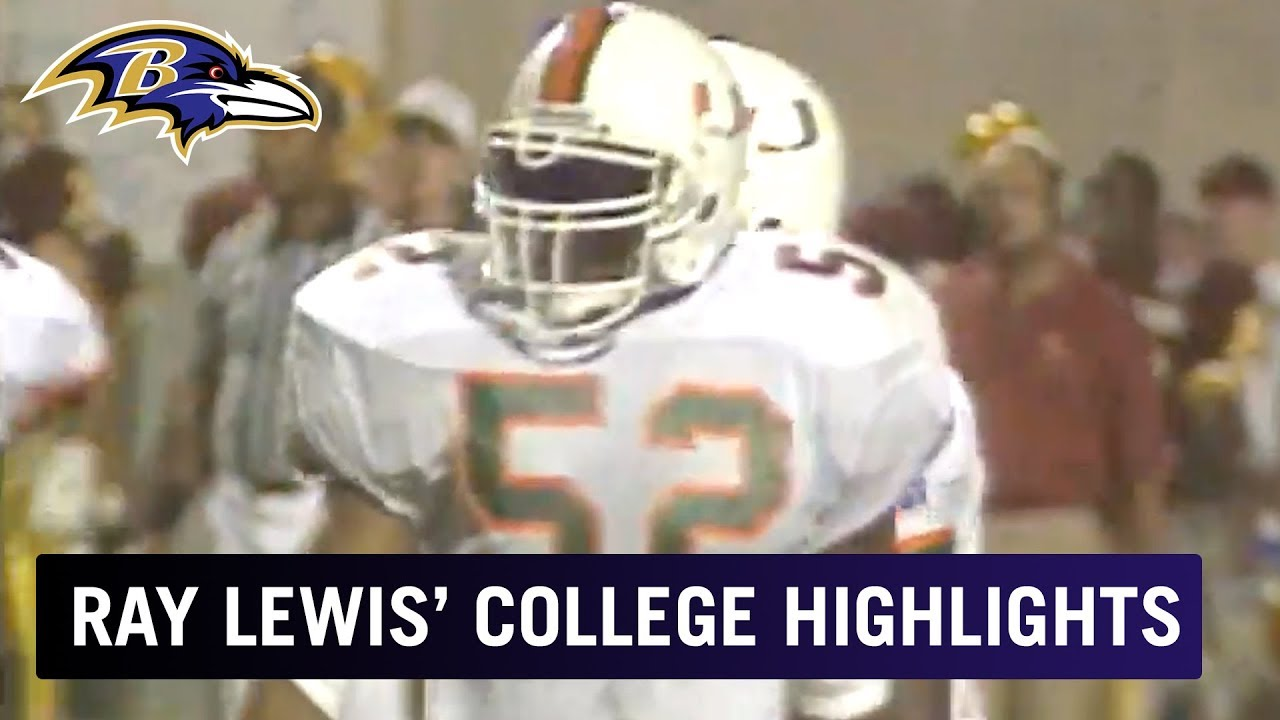 Ray Lewis' College Highlights at the University of Miami | Baltimore Ravens