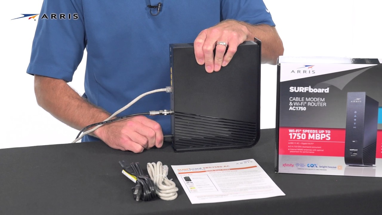 installing and activating your surfboard modem and wi fi router [ 1280 x 720 Pixel ]