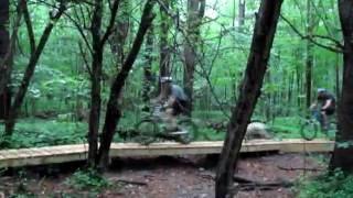 Kona Bicycles-Fox Shox Ride on New Pittsfield State Forest Boardwalk