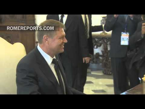 Pope meets with president of Romania