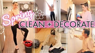 CLEAN WITH ME 2019 // SPRING CLEANING  + DECORATE MY HOUSE // CLEANING MOTIVATION