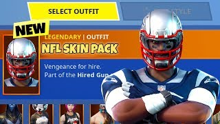 NEW Fortnite NFL SKIN PACK... (ALL NEW 32+ SKINS)