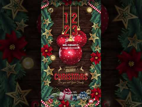 [Samsung Themes-Video Theme]  EiD - Christmas Tree (AOD & VIDEO)