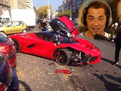 LaFerrari crash, Váci út - kommentátor: Palik László