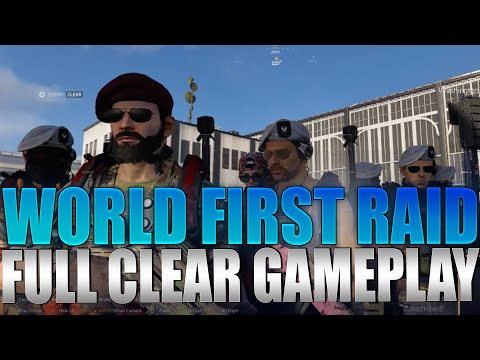 The Division 2 - World First Raid Full Clear Gameplay Operation Dark Hours