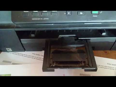 brother dcp j100 printer test head