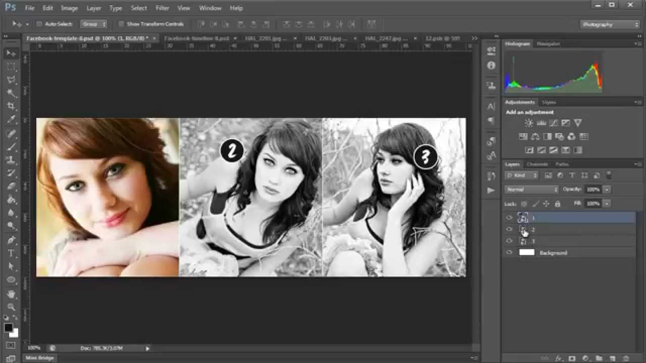 How to Edit the Free Facebook Cover  Timline Templates for Photographers  YouTube