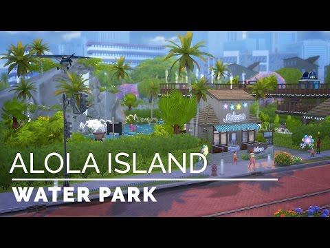 Sims 4     Speedbuild     Alola Island Water Park