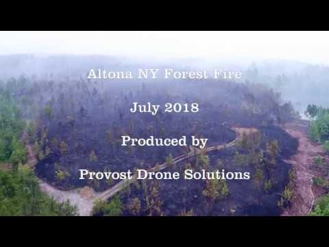 Altona NY Forest Fire  7-14-18