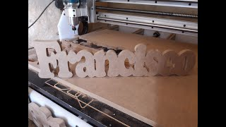 Cnc router caseira usinando no…
