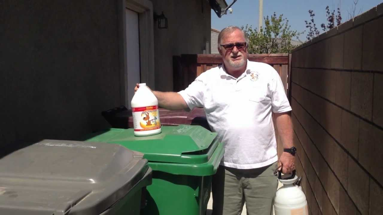 How To Remove Odors From Trash Cans Youtube