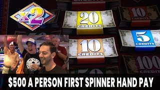 😱 $500/Person First Spinner HANDPAY! 🙏 Can We Keep It Going? Line It UP!