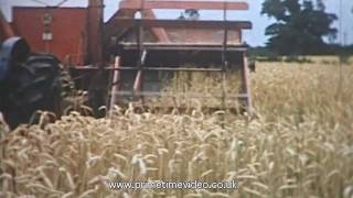 Old film showing Farming and Tractor Machiner in Lincolnshire
