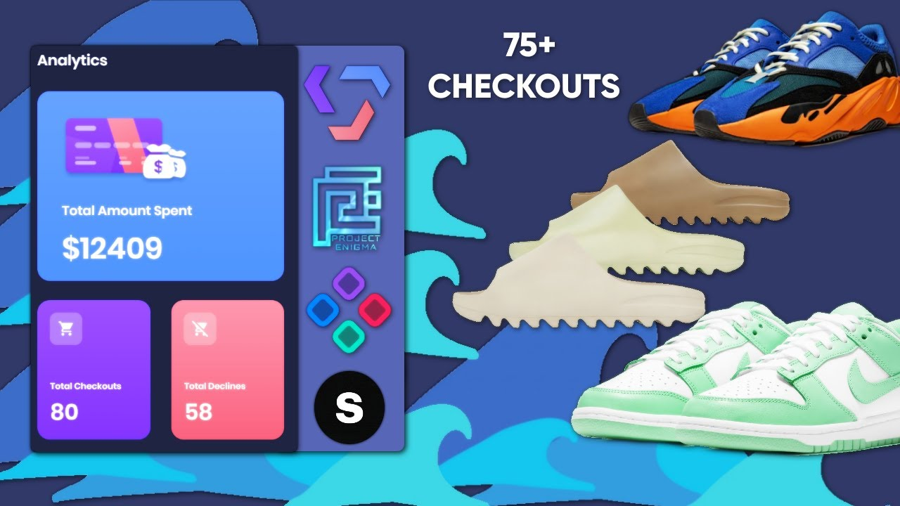 Yeezy 20 Bright Blue, Yeezy Slides, & Nike Dunk Low 'Green Glow' Live Cop    Valor & Project Enigma