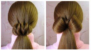 Easy heart and bow ponytail hairstyles 🌸 Coiffures rapide et facile à faire soi même