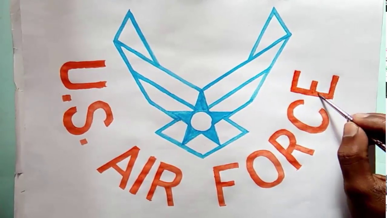 US Air Force Birthday Logo Drawing (How To Draw The US Air Force Logo)