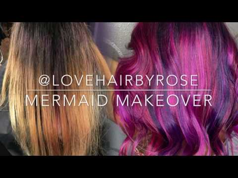 Mermaid Hair tutorial using Pulp Riot hair color