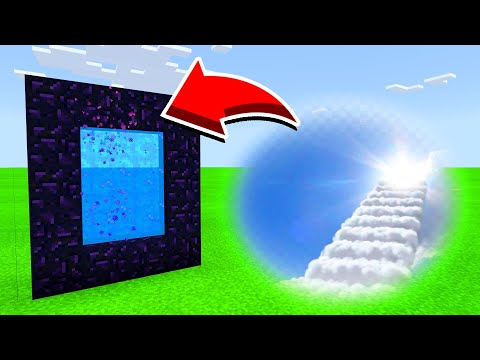How To Make A Portal To HEAVEN DIMENSION In Minecaft Pocket Edition/MCPE