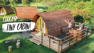 Epic GLAMPING in SCOTLAND! - Tiny Home Tour + DELICIOUS Barbecue Breakfast (Fife, Scotland)