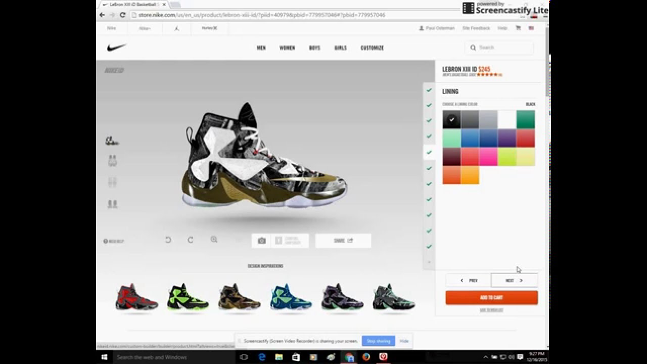 12bca04d7 NikeiD  Customizing LeBron 13 s - YouTube